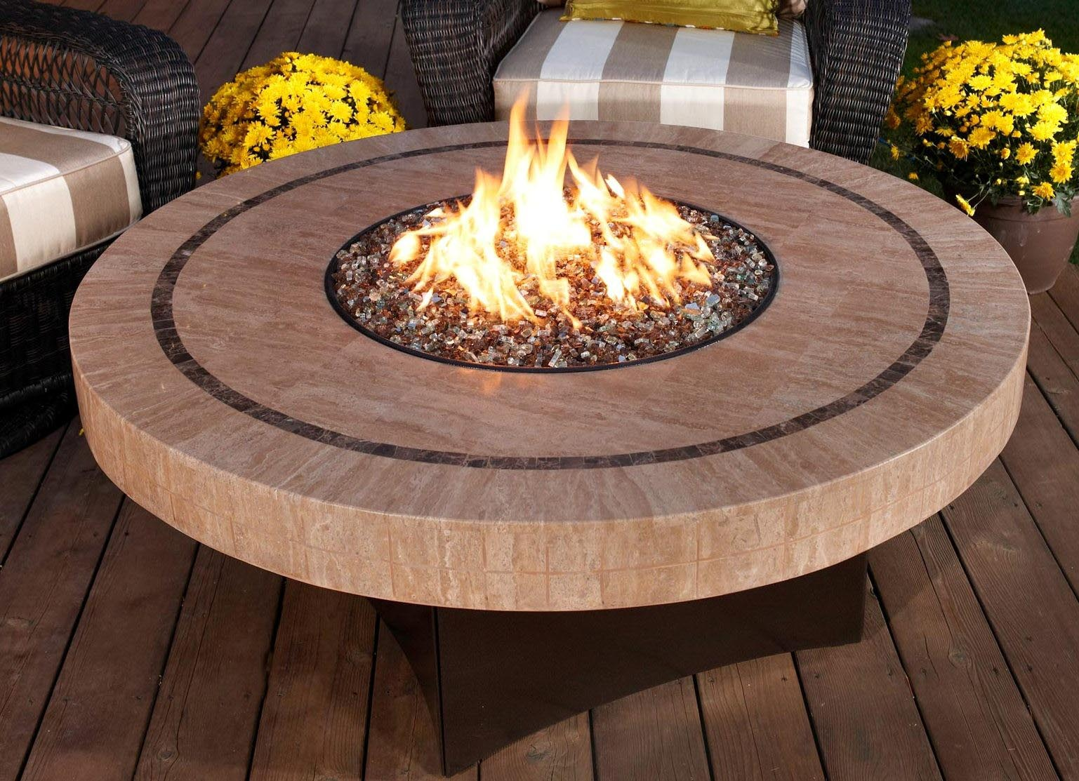 Small fire pit table fire pit design ideas for Small outdoor table ideas