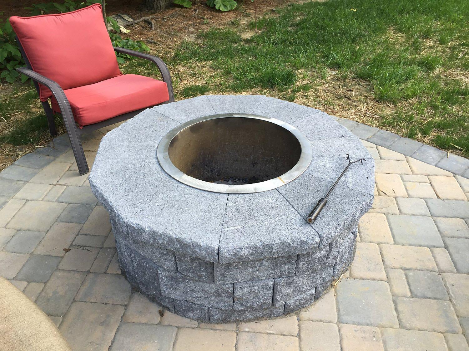 stainless steel fire pit liner