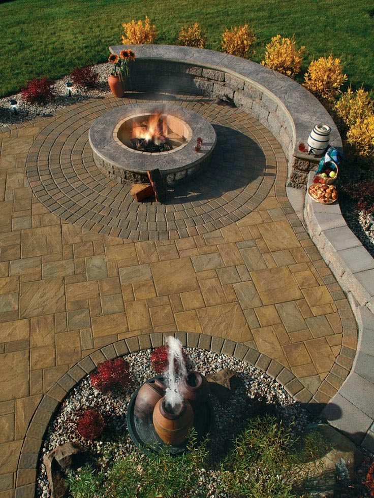 Stamped Concrete Fire Pit Fire Pit Design Ideas