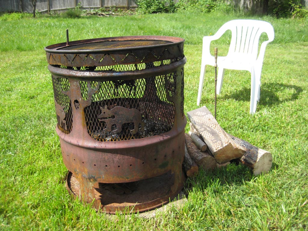 Steel Drum Fire Pit Fire Pit Design Ideas