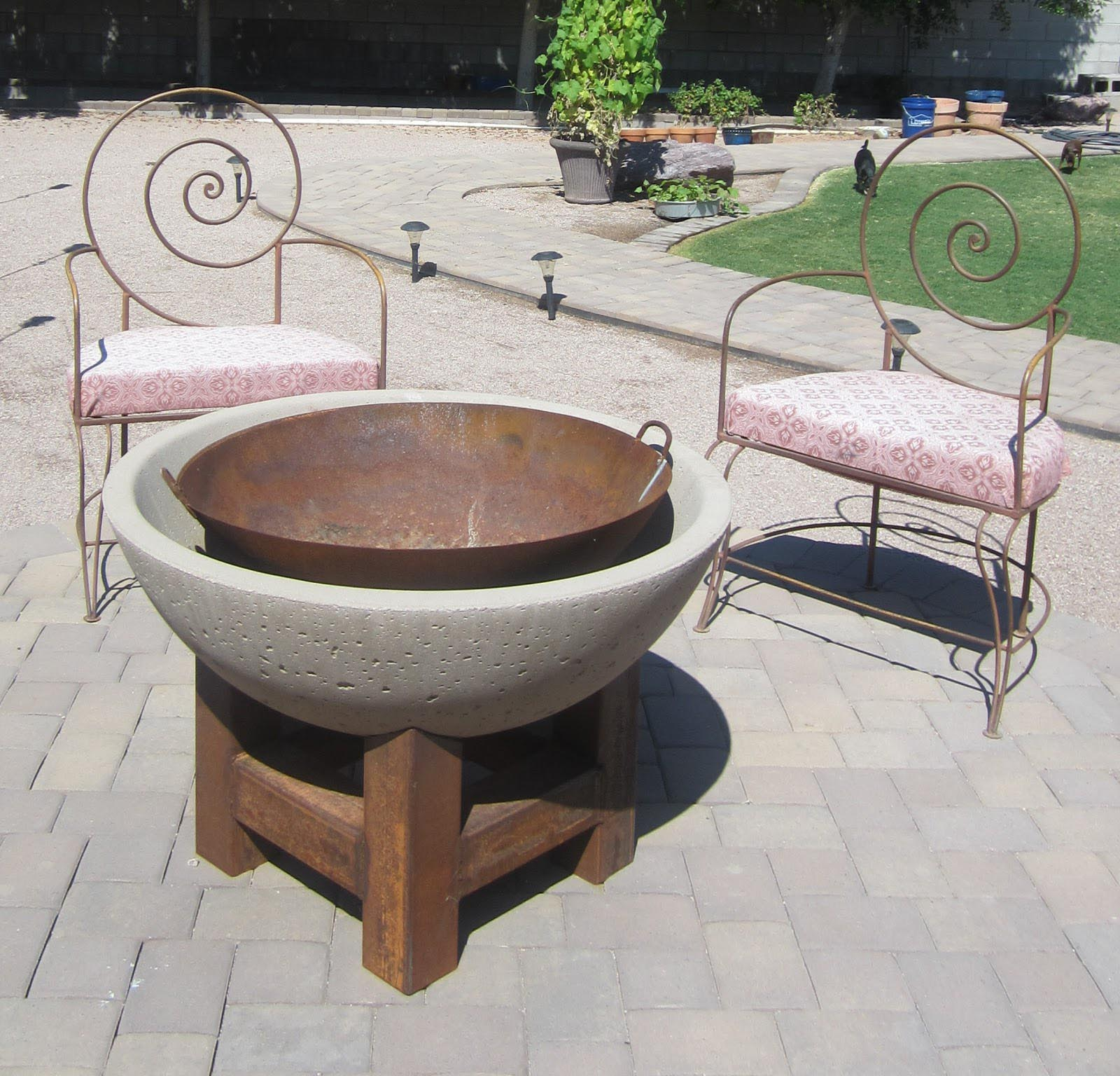 Stone bowl fire pit fire pit design ideas for Fire pit ideas