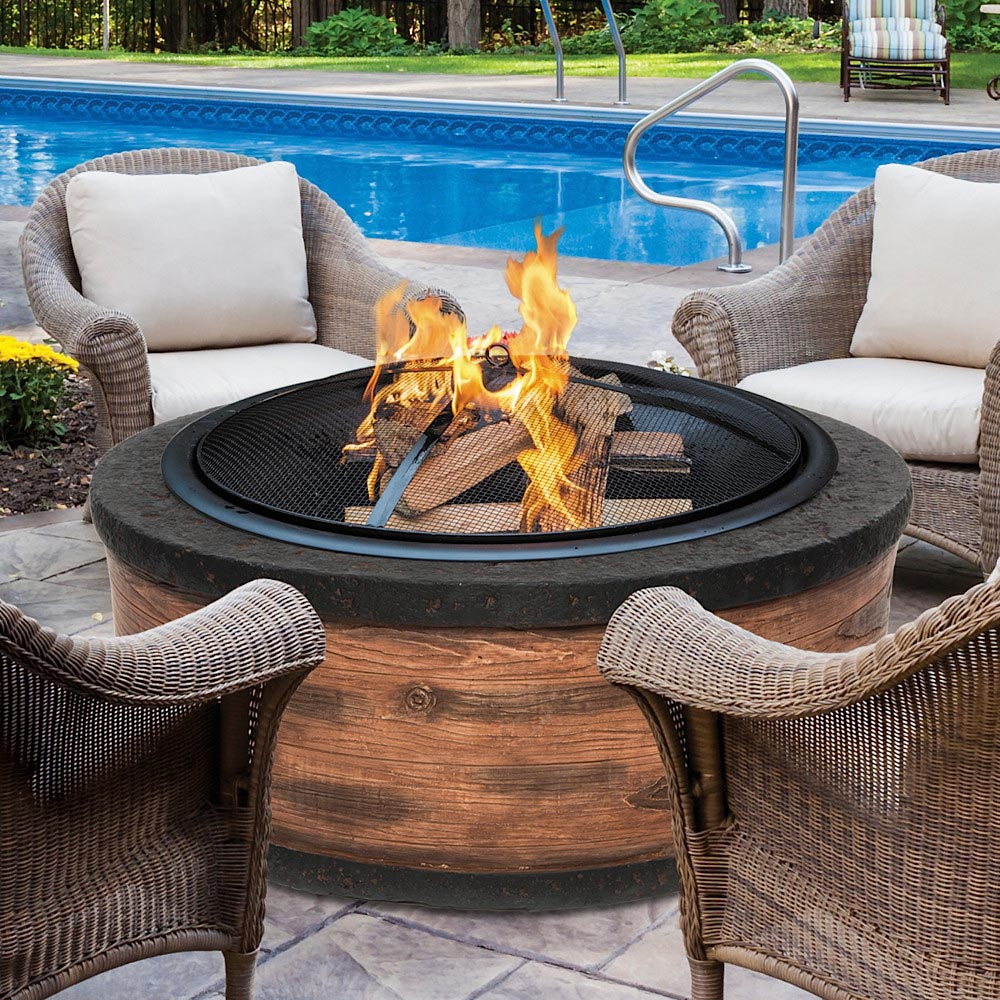 Wood Burning Stone Fire Pit
