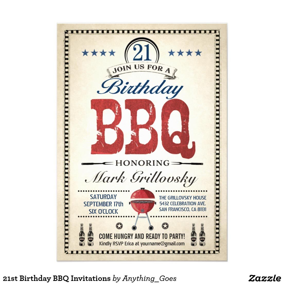 21st Birthday BBQ Party Ideas