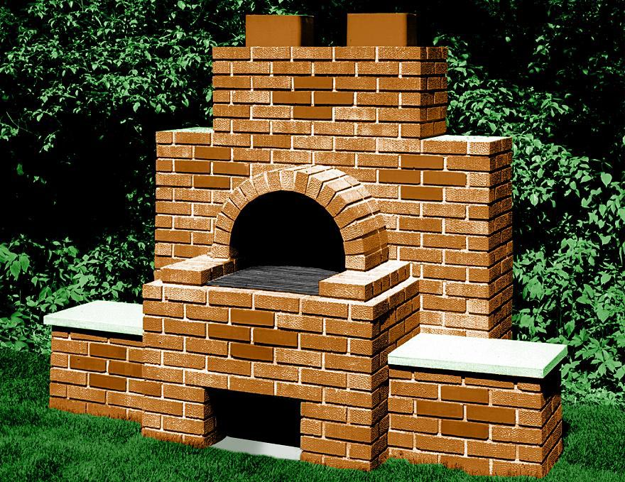 Backyard brick bbq pits fire pit design ideas for Plan de barbecue exterieur