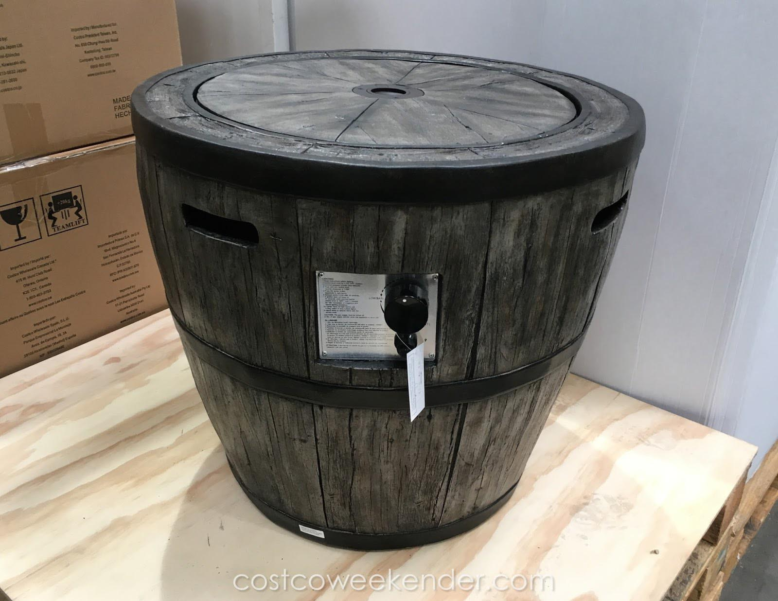 Barrel Gas Fire Pit