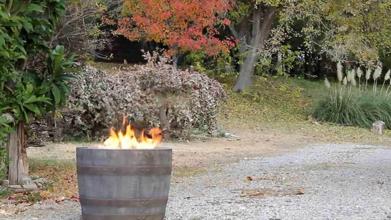 Barrel Propane Fire Pit