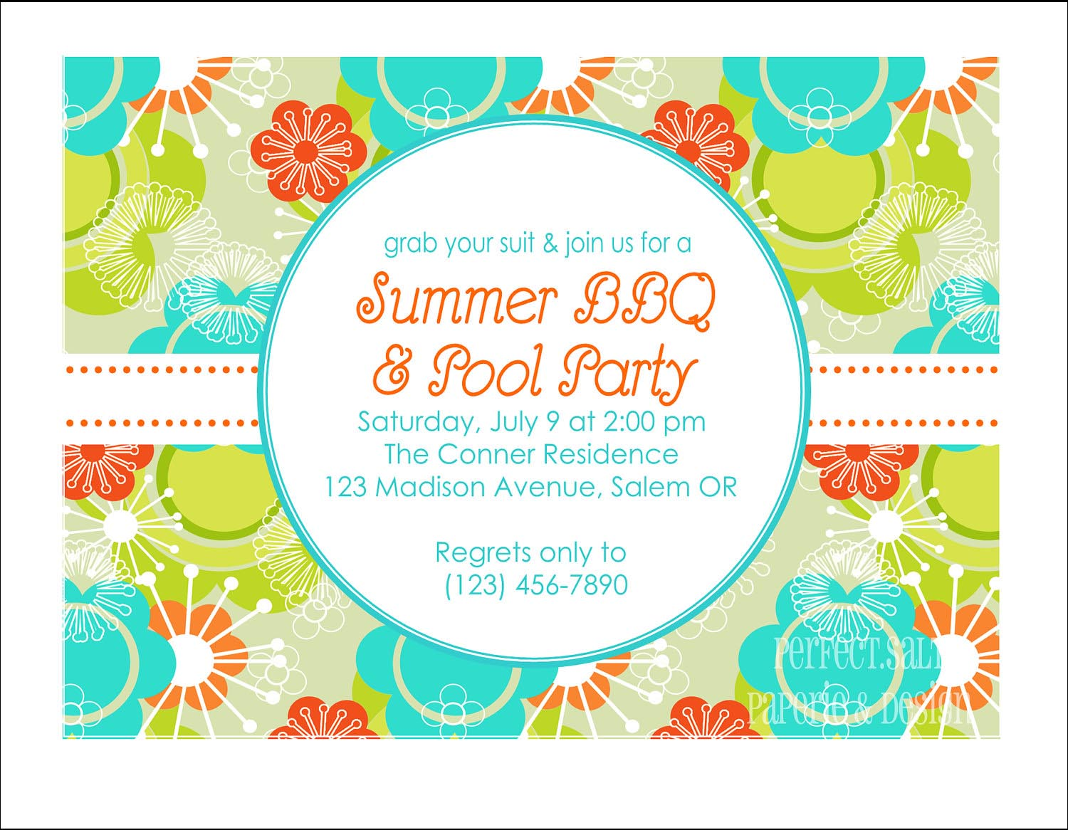 BBQ and Pool Party Invitation Wording