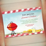 BBQ Birthday Party Invitation Templates