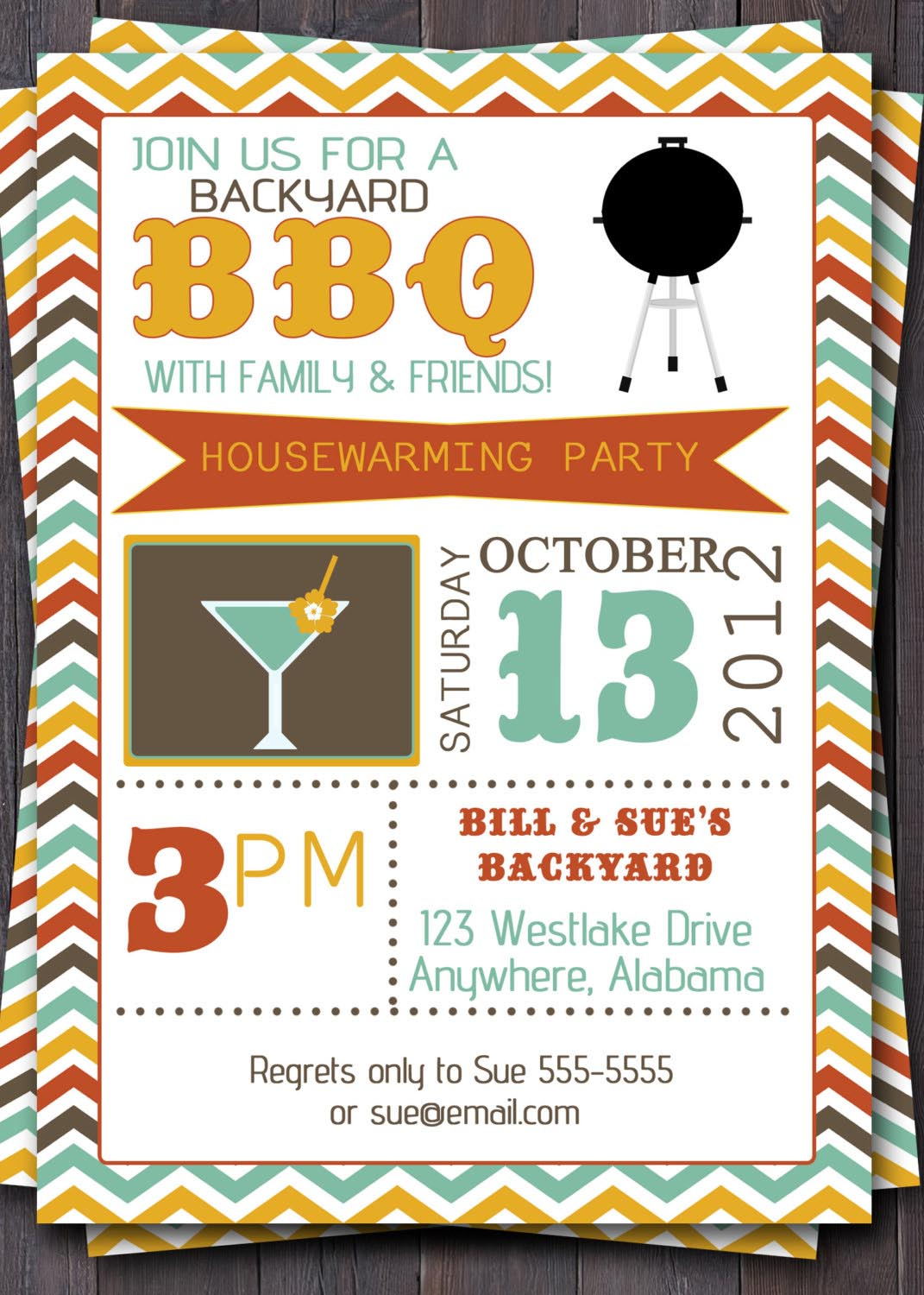 BBQ Birthday Party Invitations