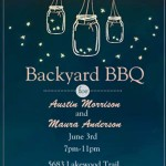 BBQ Engagement Party Invitations