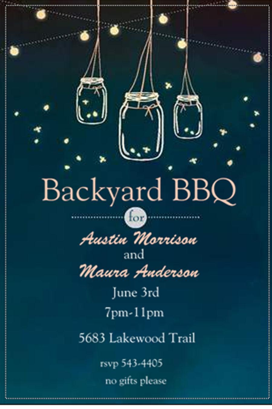 Bbq engagement party invitations fire pit design ideas for Invitation for engagement party