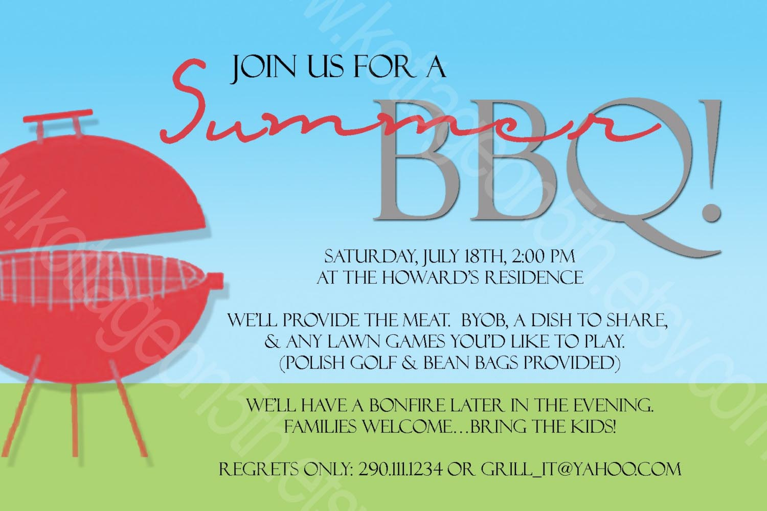 BBQ Party Invitation Wording Ideas | Fire Pit Design Ideas