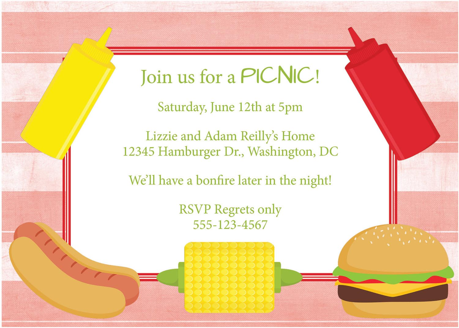 BBQ Party Invite Wording