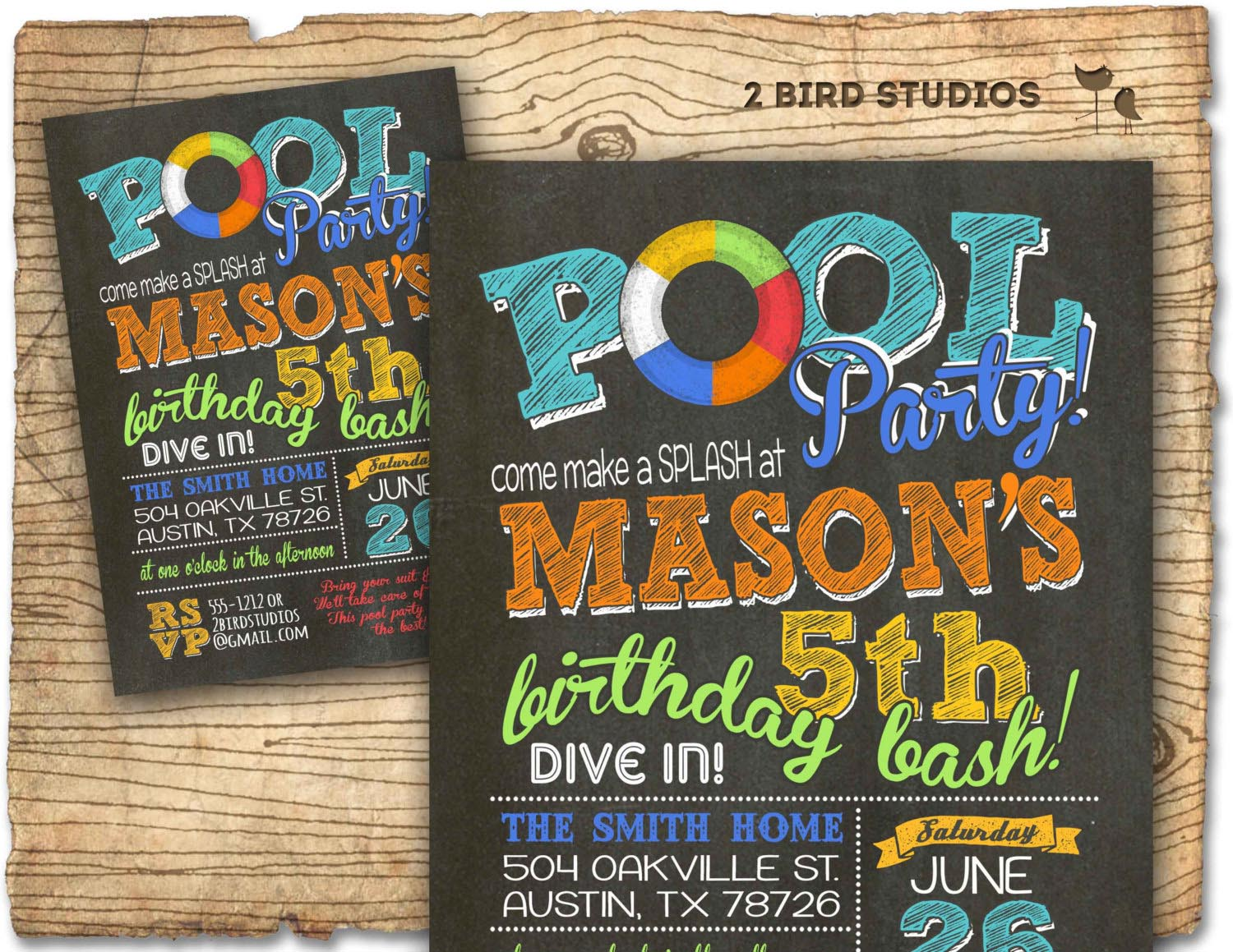 BBQ Pool Party Invite