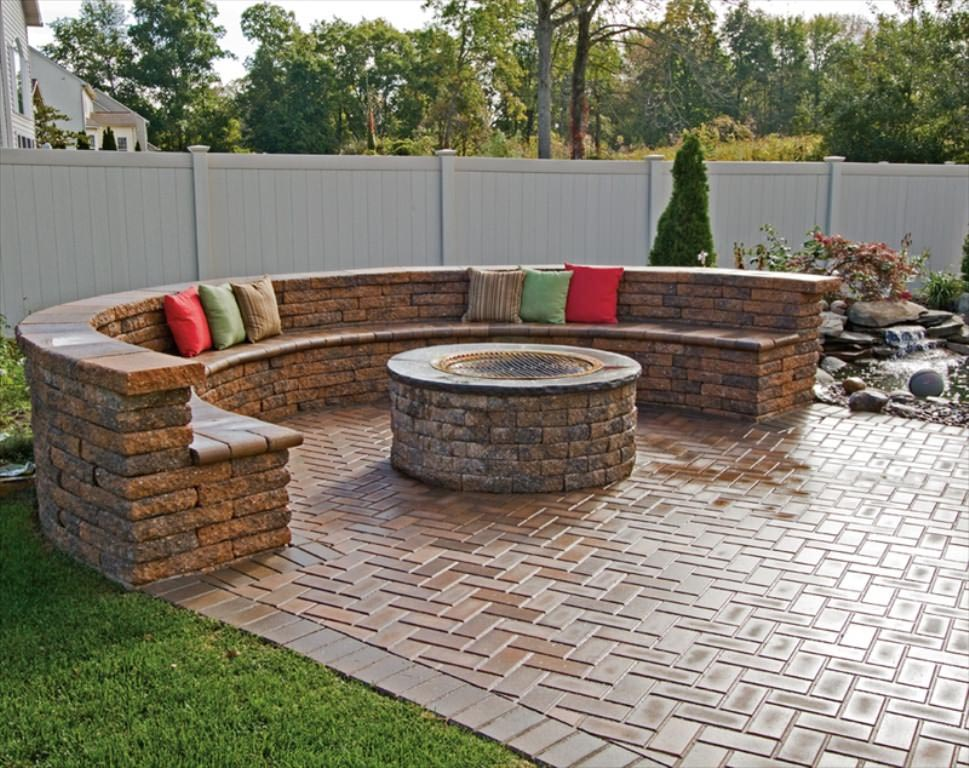 brick bbq fire pit bbq design ideas - Bbq Design Ideas