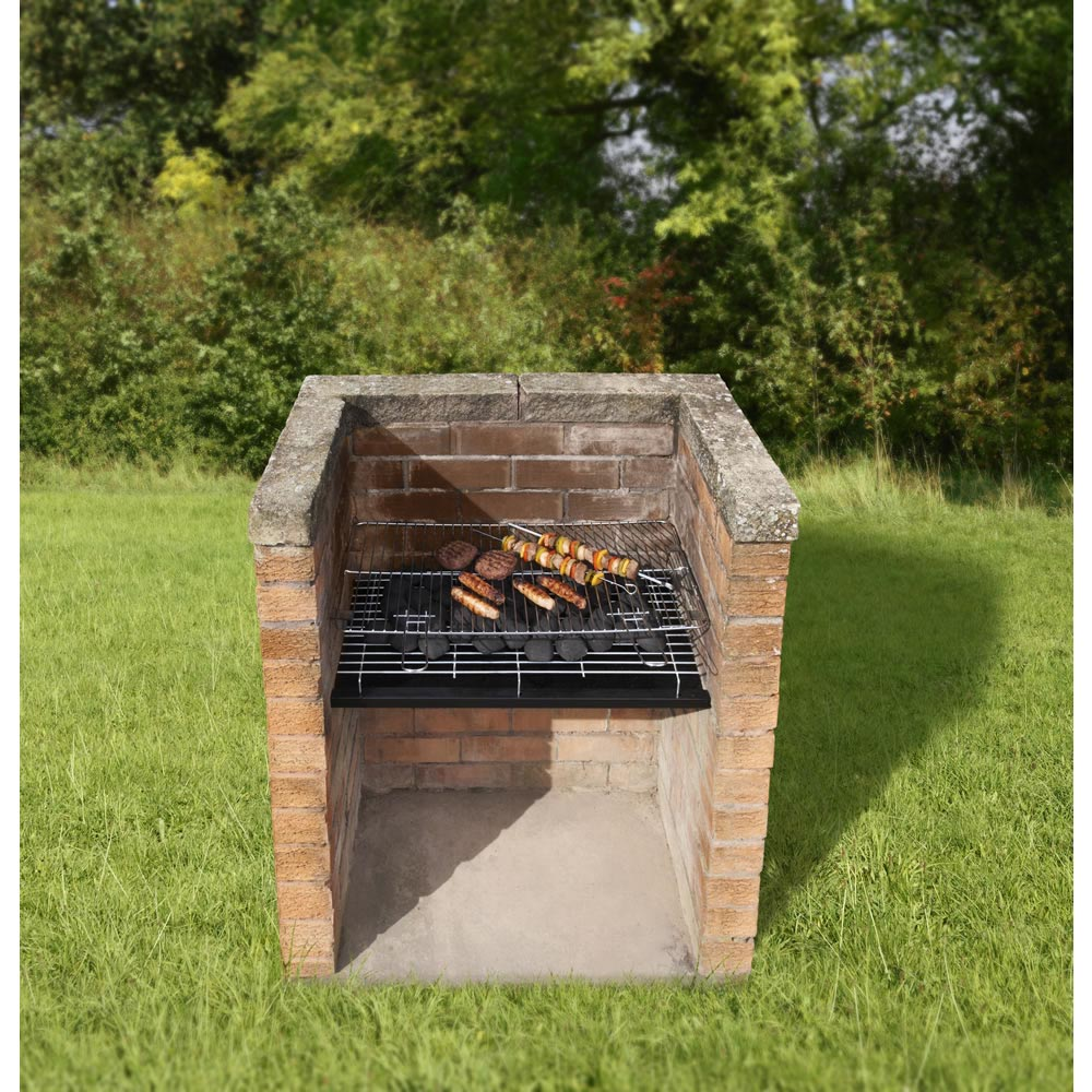 brick bbq grill set fire pit design ideas. Black Bedroom Furniture Sets. Home Design Ideas