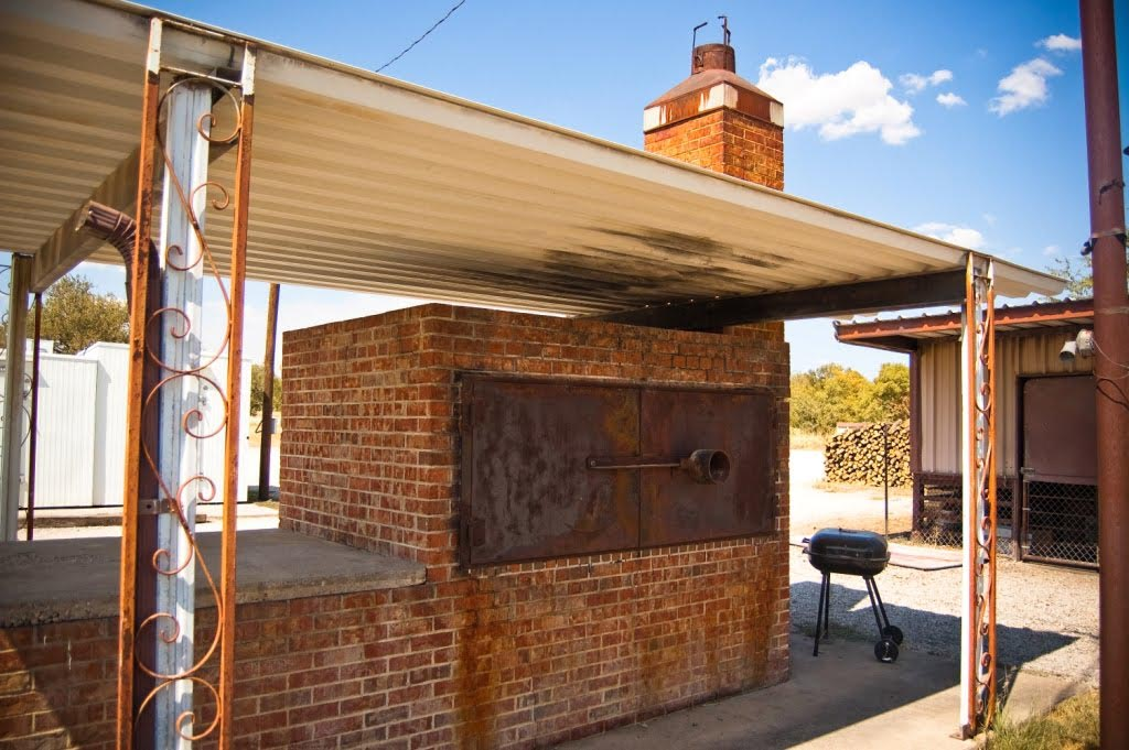 Brick BBQ Pit and Smoker
