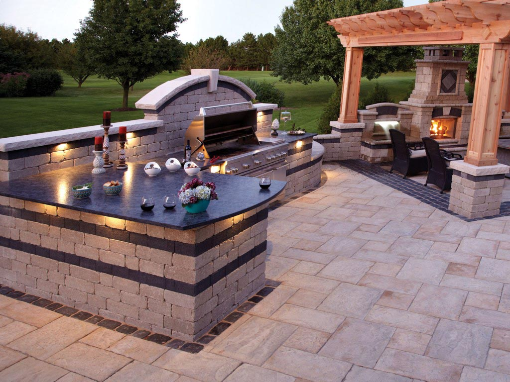 It Is Easy To Make A Brick BBQ Pit Your Own Fire