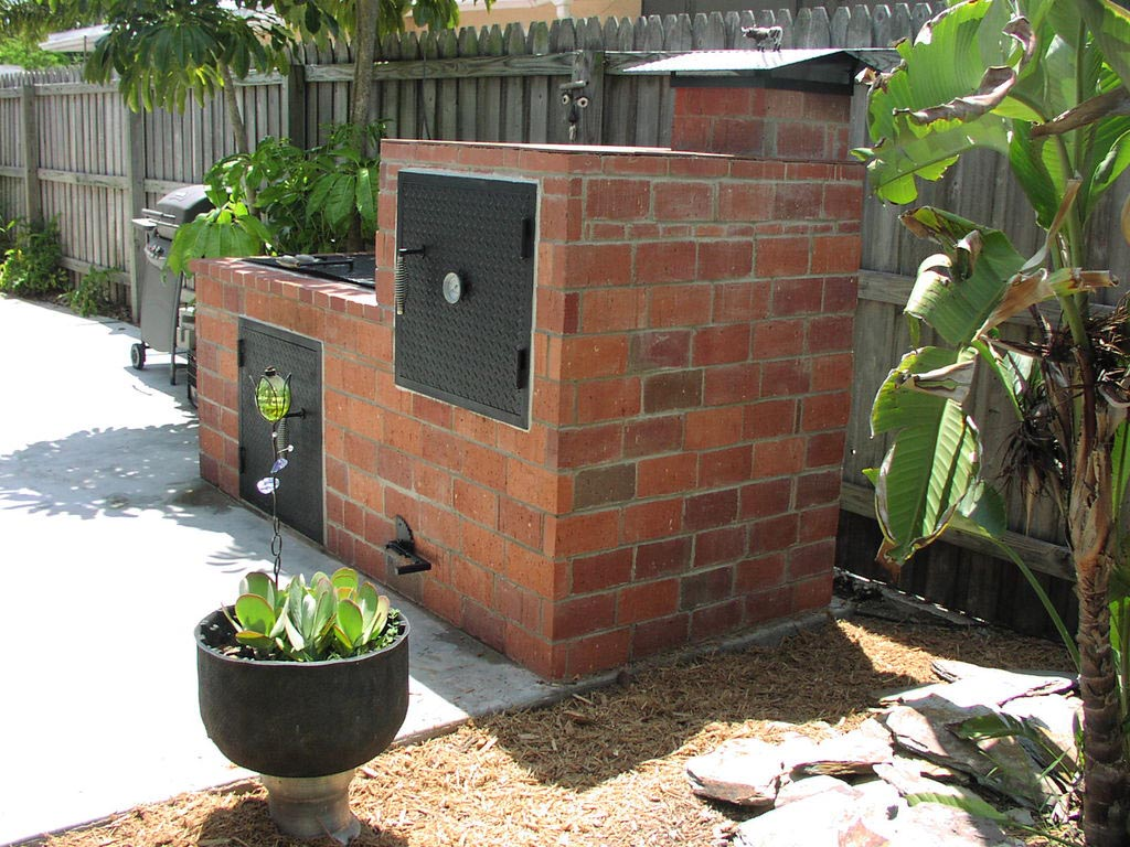 Brick bbq smoker pit plans fire pit design ideas for Bbq grill designs and plans