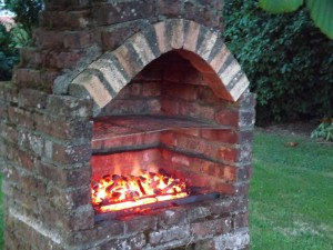 Brick Built BBQ with Chimney Plans