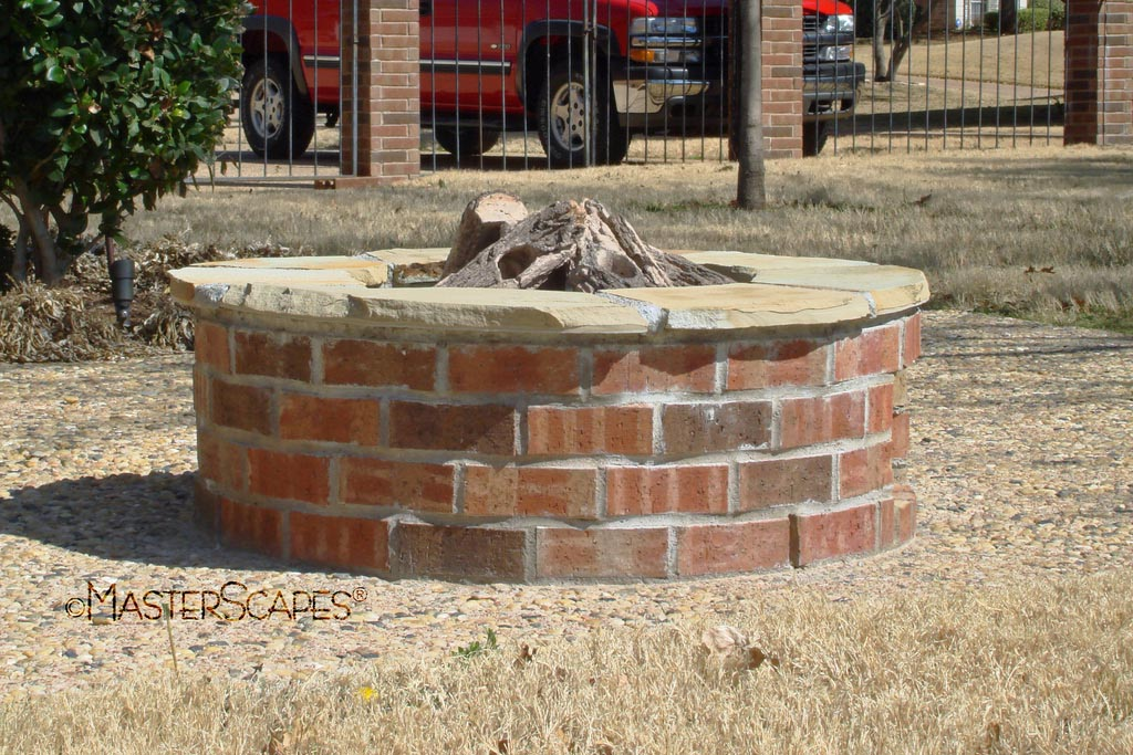 Brick fire pit plans fire pit design ideas for Brick fire pit construction