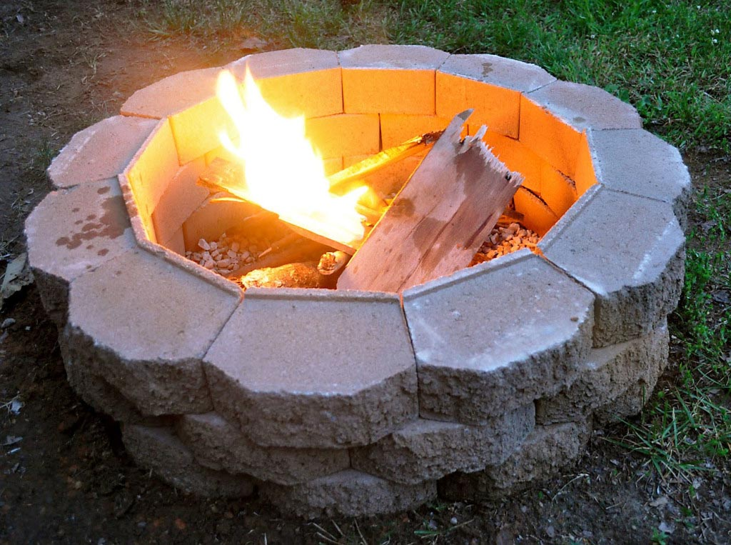 Build a Fire Pit with Pavers
