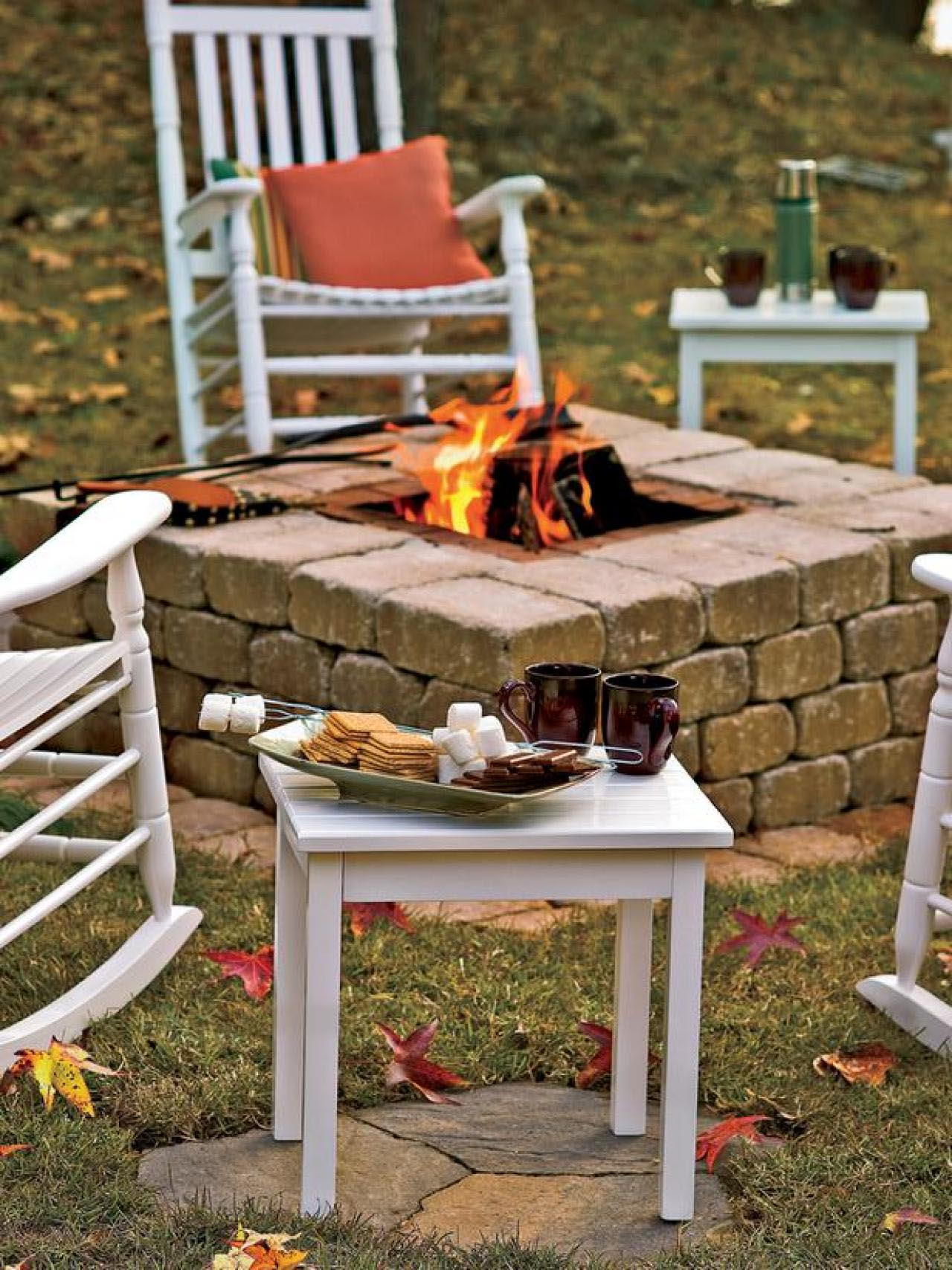 Build dig sunken fire pit fire pit design ideas for Diy brick projects