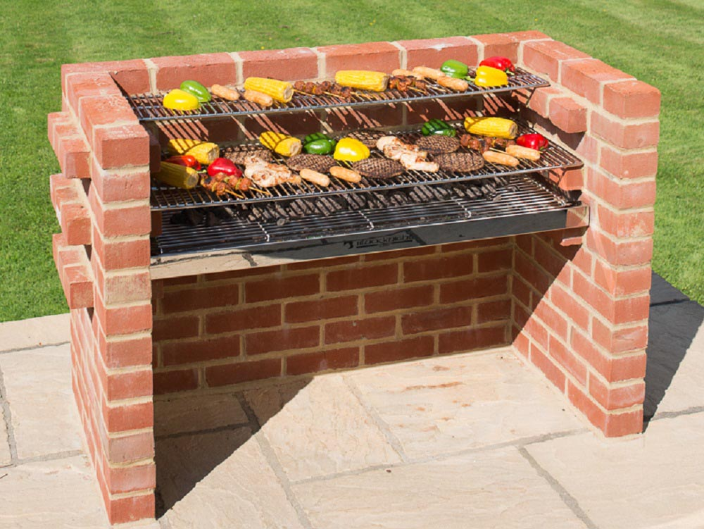 Build your own brick bbq pit fire pit design ideas for Bbq grill designs and plans