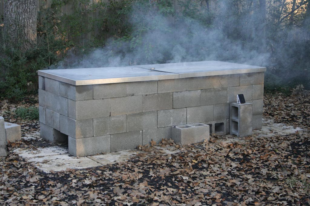 Building a brick smoker bbq pit fire pit design ideas for Brick fire pit construction