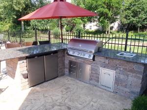 Building Brick BBQ Pit