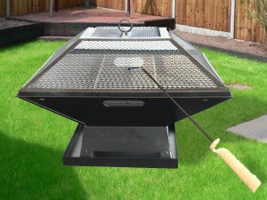 Cast Iron Fire Pit Grill