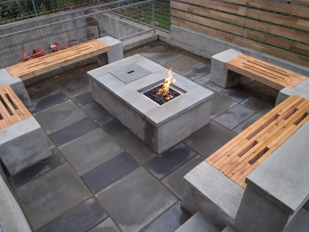 Cement Block Fire Pit