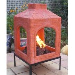 Ceramic Chiminea Fire Pit