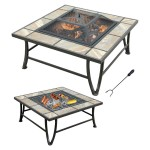 Ceramic Tile Fire Pit with Grill