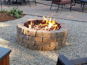 Cinder Blocks Fire Pit