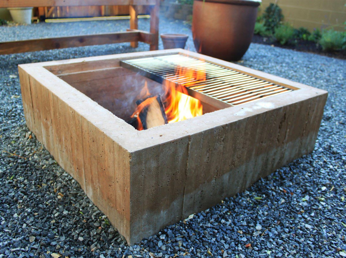 Cinder blocks for fire pit fire pit design ideas for How to build a fire pit with concrete blocks