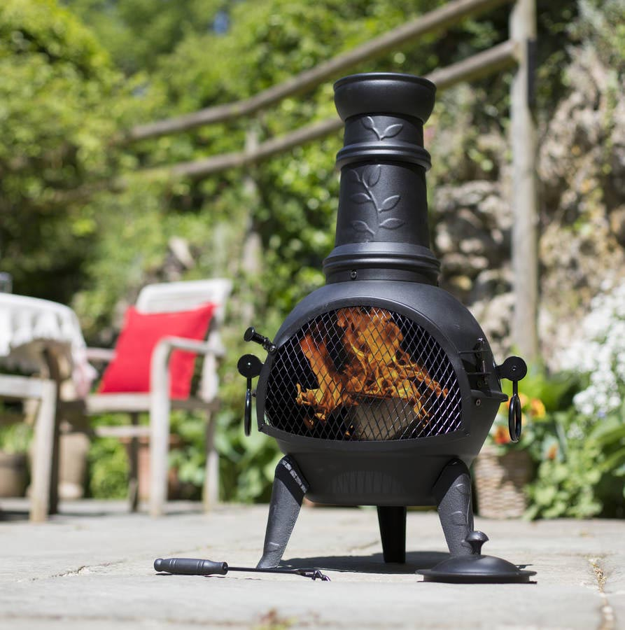 Clay Chiminea Outdoor Fire Pit