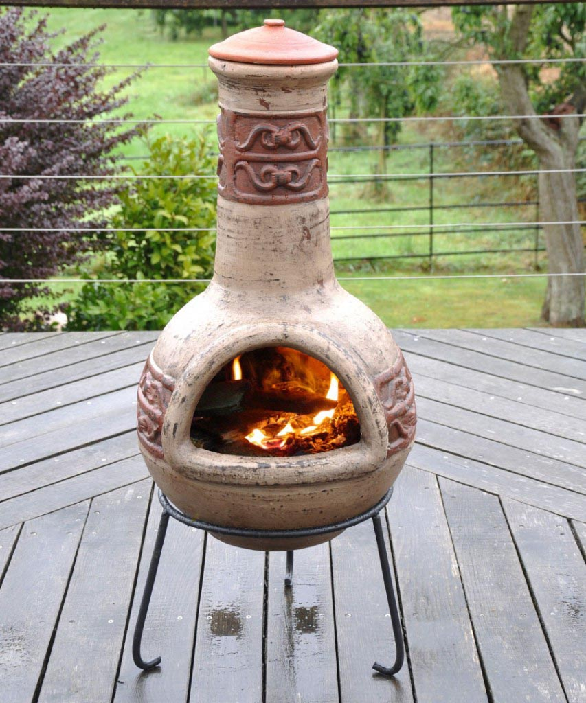 Clay Chimney Fire : Clay fire pits chimineas pit design ideas