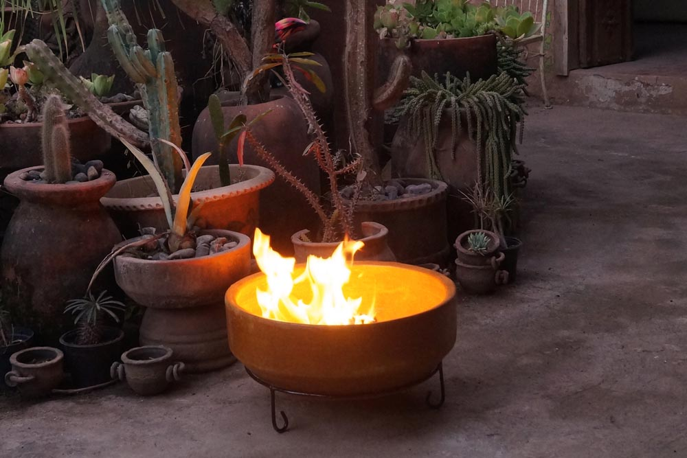 Clay Mexican Fire Pit