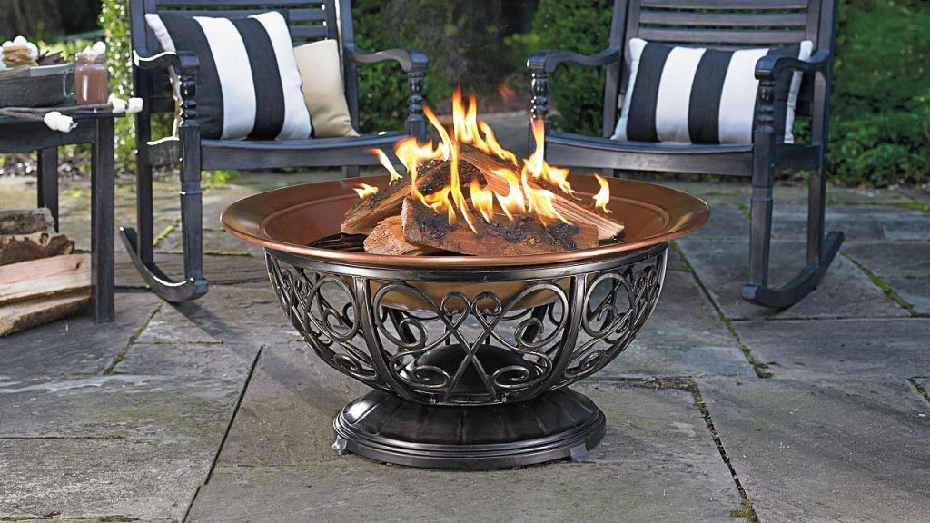 Coleman Fire Pit with Wheels