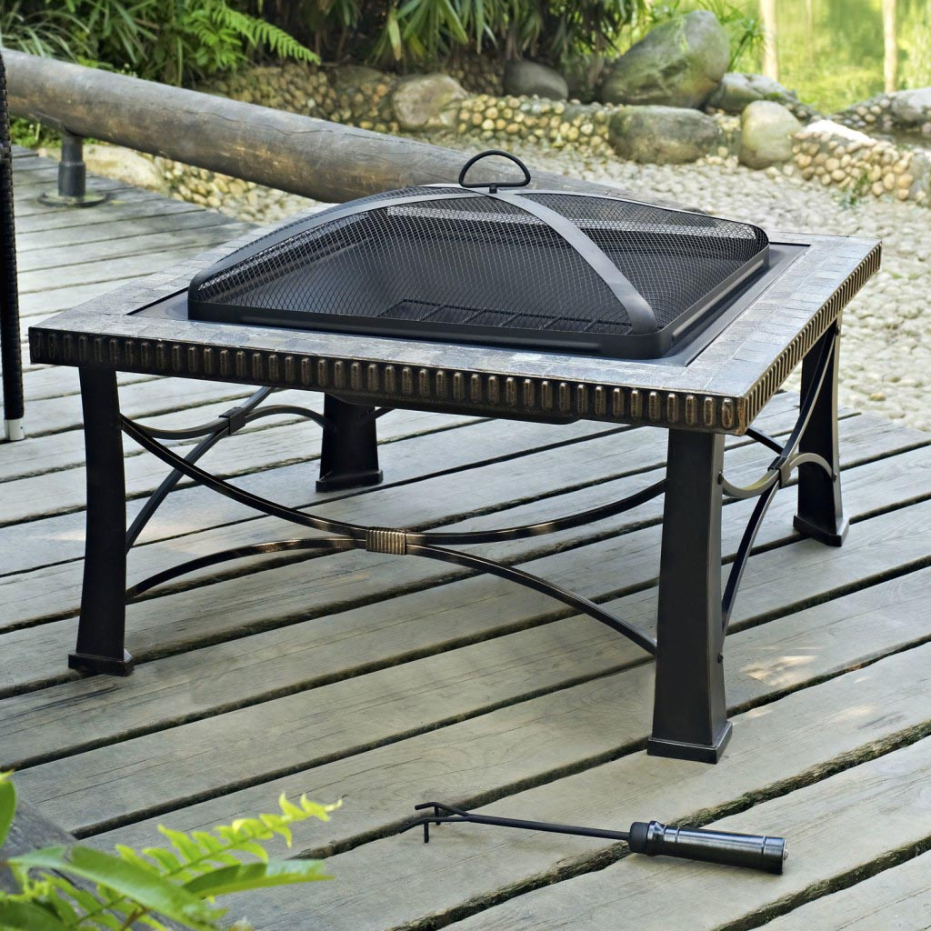 triyae com u003d portable outdoor fire pit with wheels various