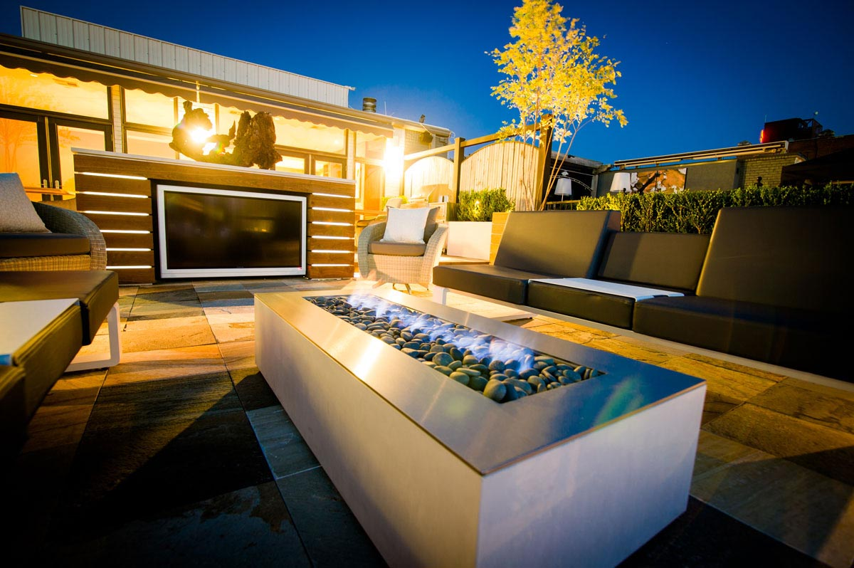 Contemporary Modern Outdoor Fire Pits