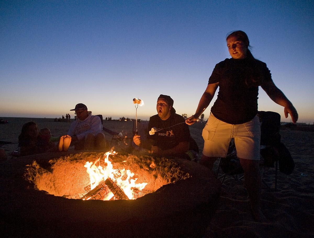 Corona Del Mar Beach Fire Pits