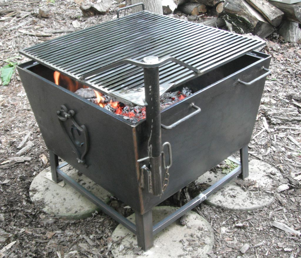 Cowboy Fire Pit Rotisserie Grill