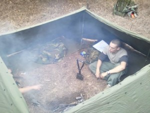 Dakota Fire Pit in Shelter
