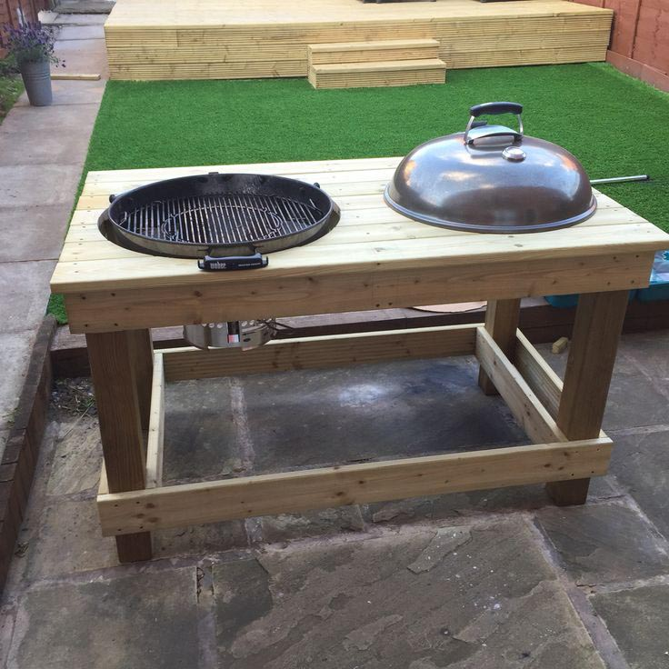 Bbq prep table can be of two types: inbuilt in the brick barbeque and ...