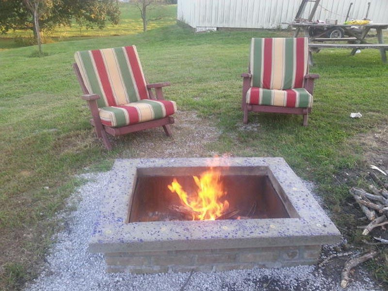 DIY Square Fire Pit Design Ideas