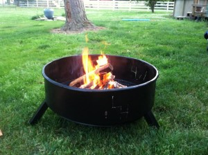 Dryer Barrel Fire Pit