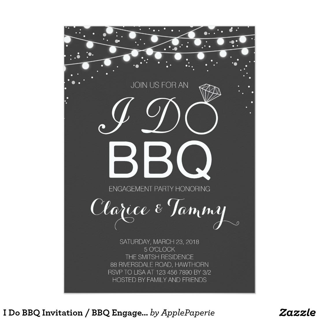engagement party bbq invitations fire pit design ideas. Black Bedroom Furniture Sets. Home Design Ideas