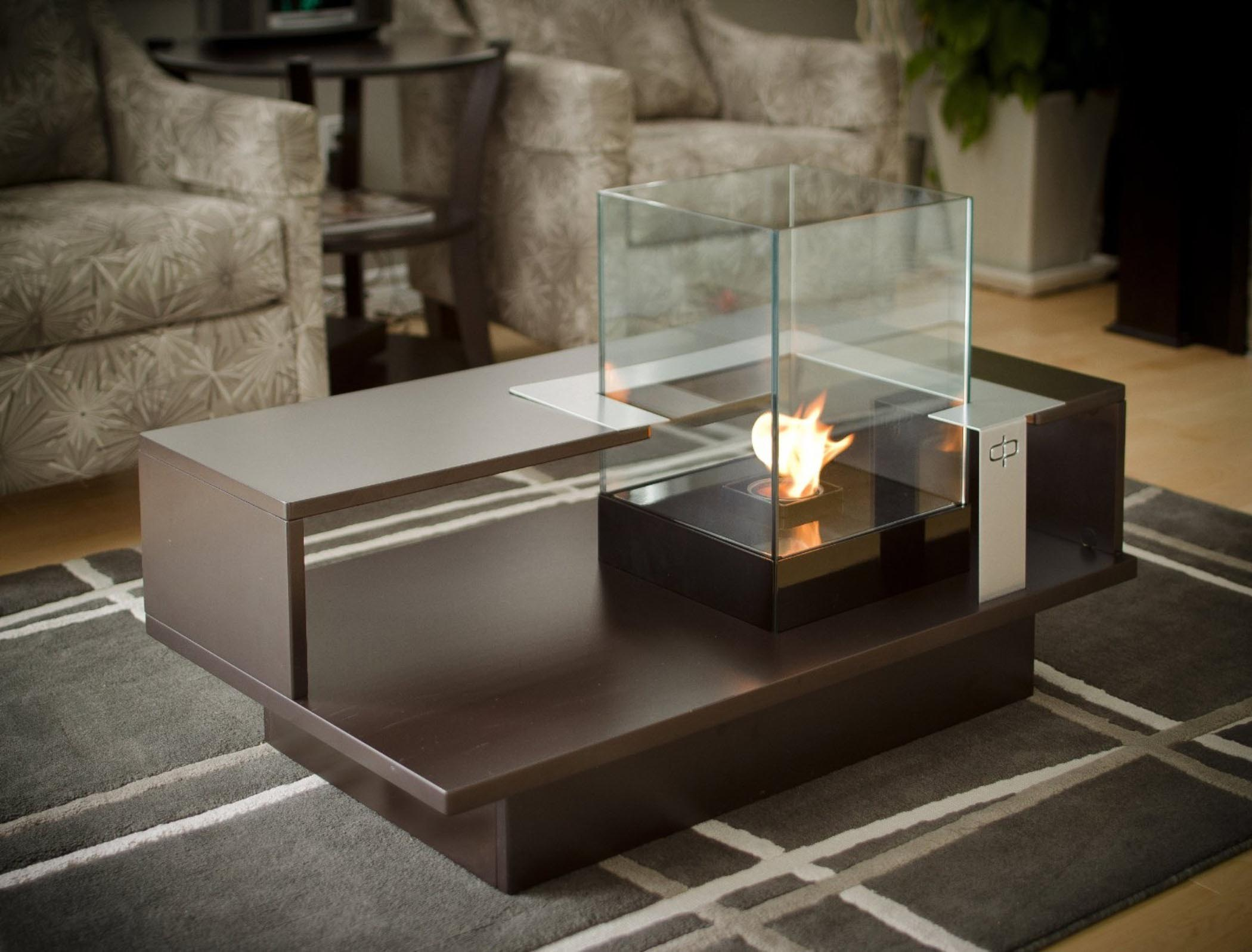 Fire Pit Coffee Table Indoor Design Ideas
